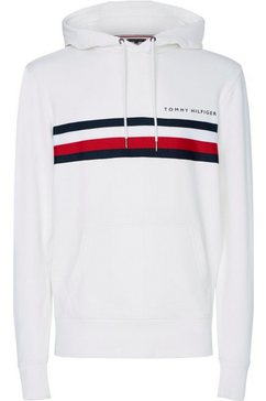 tommy hilfiger hoodie »hilfiger logo hoody« wit