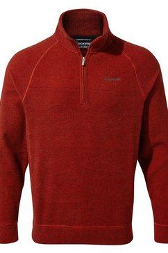 craghoppers trui met staande kraag »herren fleecepullover leto mit reissverschluss-kragen« rood