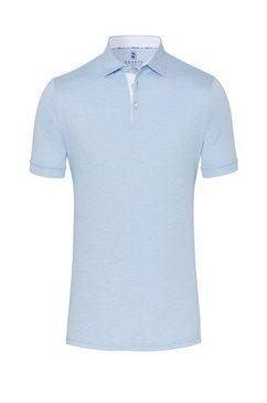 desoto jerseypolo korte mouwen strijkvrij cut-away blauw