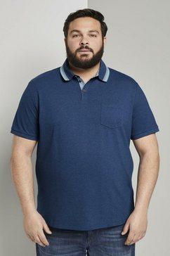 tom tailor men plus poloshirt »poloshirt mit brusttasche« blauw