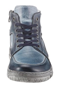 krisbut hoge veterschoenen blauw