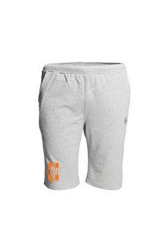 ahorn sportswear bermuda met coole print op de pijp grijs
