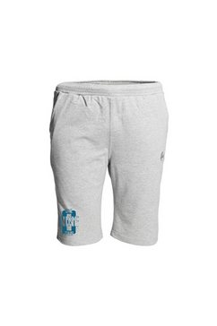 ahorn sportswear sweatbermuda met casual printmotief grijs