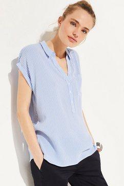 comma oversized blouse met strepen blauw