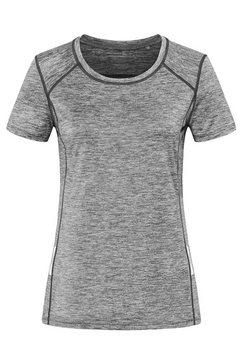 stedman sport-t-shirt van gerecycled materiaal »recycled reflect« grijs