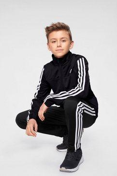 adidas performance trainingspak »youth boys 3 stripes tracksuit« zwart