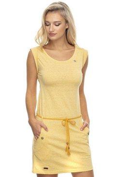 ragwear jerseyjurk »tag« (met een afneembare riem) geel