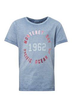 tom tailor t-shirt »t-shirt mit print« blauw