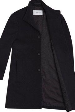 calvin klein wollen jas »wool blend funnel coat« zwart