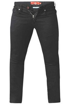 duke clothing stretch jeans »herren claude, tapered fit, king size« zwart