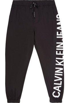 calvin klein sweatbroek »stretch logo nylon trackpant« zwart