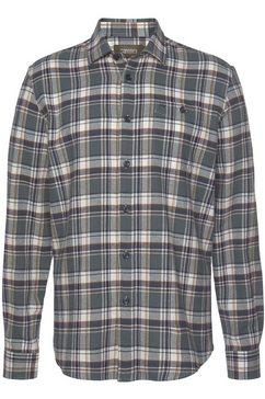 man's world flanellen overhemd grijs