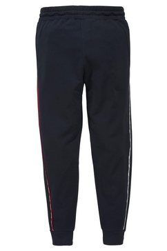 tommy sport joggingbroek »piping fleece cuffed pant« blauw