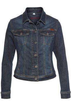 blue fire jeansjack gipsy in elastische denimkwaliteit blauw
