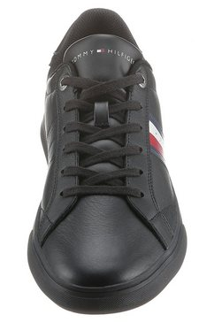 tommy hilfiger sneakers »essential leather cupsole« zwart