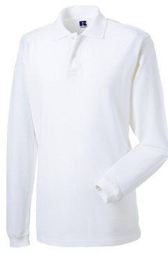 russell poloshirt »herren polo-shirt europe langarm« wit