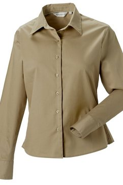 russell blouse met lange mouwen »collection damen hemd - bluse, langarm« groen