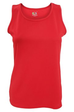 fruit of the loom functionele top »damen lady-fit performance top, aermellos« wit