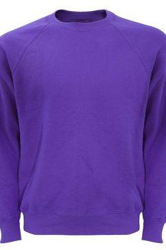 fruit of the loom trui met ronde hals »belcoro pullover - sweatshirt« paars