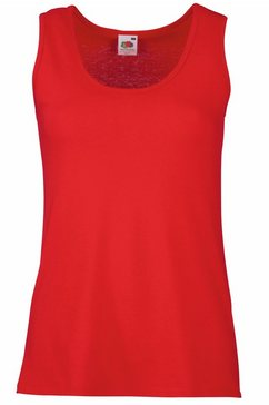 fruit of the loom tanktop »lady-fit valueweight damen tank-top« rood