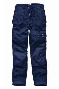 dickies functionele broek »eisenhower arbeitshose fuer maenner, standard beinlaenge« blauw