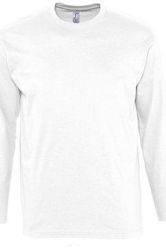 sols t-shirt »herren monarch longsleeve - , langarm« wit