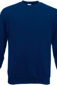 fruit of the loom trui met ronde hals »belcoro garn pullover - sweatshirt« blauw