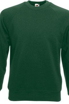 fruit of the loom trui met ronde hals »belcoro pullover - sweatshirt« groen