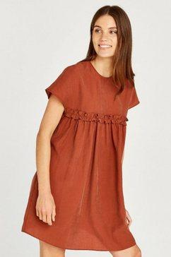 apricot babydolljurk »ruffle trim waist babydoll dress« rood