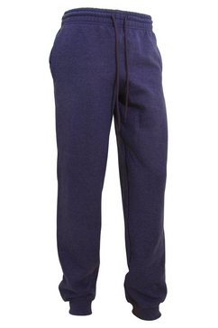 gildan joggingbroek »herren heavy blend jogging hose-sporthose mit buendchen« blauw