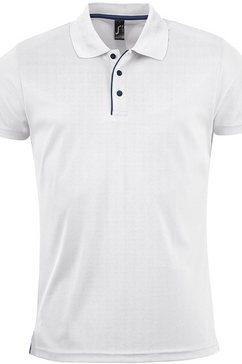 sols poloshirt »herren pique polo shirt performer, kurzarm« wit