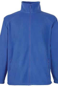 fruit of the loom fleecejack »kinder fleece jacke« blauw