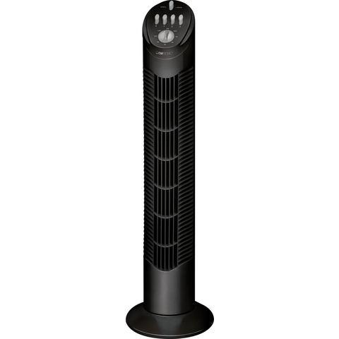 Clatronic T-VL 3546 Torenventilator 50 W (l x b x h) 220 x 220 x 755 mm Zwart