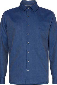 calvin klein businessoverhemd »structure stretch slim shirt« blauw
