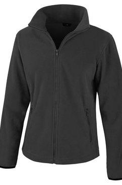 result fleecejack »damen core fashion fit fleece-oberteil -« zwart