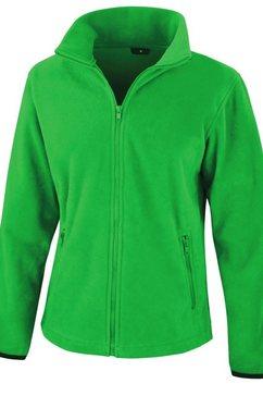 result fleecejack »damen core fashion fit fleece-oberteil -« groen