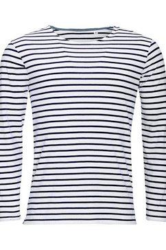 sols t-shirt »herren marine , gestreift, langaermlig« wit