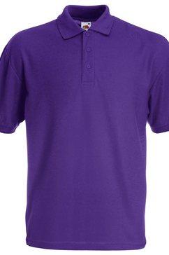 fruit of the loom poloshirt »65-35 herren piqué polo-shirt, kurzarm« paars