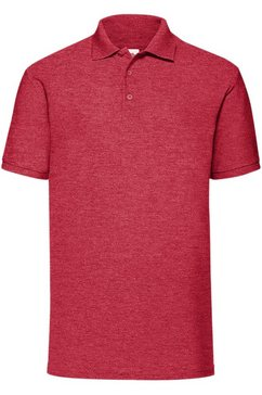 fruit of the loom poloshirt »65-35 herren piqué polo-shirt, kurzarm« rood