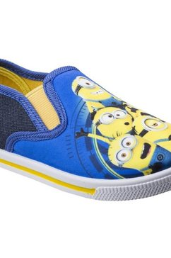 leomil slip-on sneakers »kinder slip-on-sneaker mit minions-motiv« blauw
