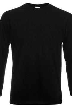 fruit of the loom longsleeve »herren langarm t-shirt mit rundhalsausschnitt« zwart