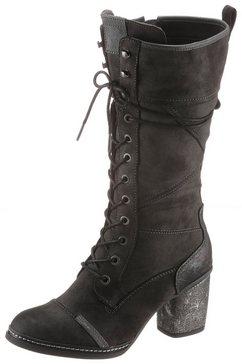 mustang shoes veterlaarzen grijs
