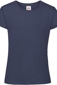 fruit of the loom t-shirt »maedchen sofspun , kurzarm, rundhalsausschnitt« bruin