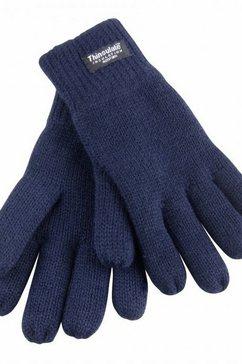 result gebreide handschoenen junior kinderen thermo handschoenen, gevoerd (3m 40 g) (set van 2) blauw