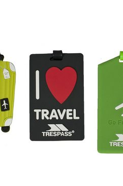 trespass reistas »traveltag kofferanhaenger« multicolor