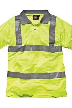 dickies poloshirt »sicherheits polo shirt - herren arbeitskleidung mit reflektoren (2 stueck-packung)« geel