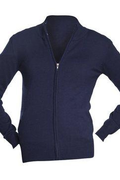 sols vest »damen gordon mit reissverschluss, v-ausschnitt, langarm« blauw