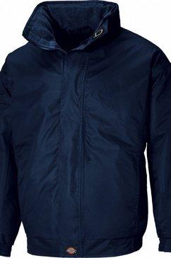 dickies outdoorjack »cambridge herren jacke, versteckte kapuze« blauw