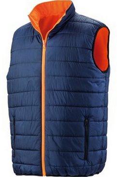 result bodywarmer »safeguard herren wende- in warnfarben« oranje
