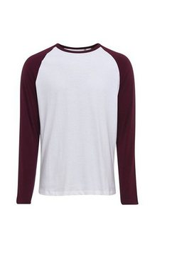 sols t-shirt »herren funky kontrast langarm« bruin